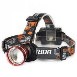 Boruit RJ-2166 Zoombar Pannlampa 2000 Lumen AA-batterier