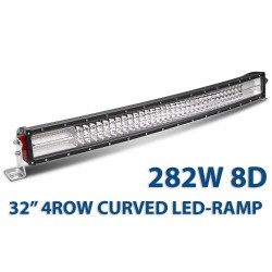 82cm 282W 8D quadrow curved LED-ramp 32""