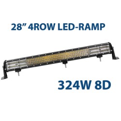 "324W 8D quadrow LED-ramp 28"" 72cm"
