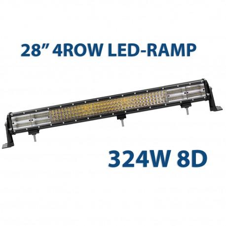 """324W 8D quadrow LED-ramp 28"""" 72cm"""